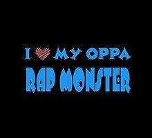 I HEART MY OPPA RAP MONSTER  - BLACK  by Kpop Seoul Shop