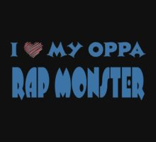 I HEART MY OPPA RAP MONSTER  - BLACK  Kids Clothes