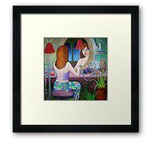 Girl in the Mirror Framed Print