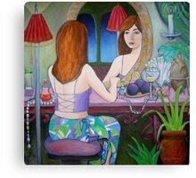 Girl in the Mirror Canvas Print