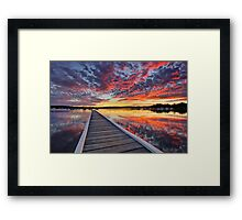 Bolton Point Swimming Pool at Dusk Framed Print