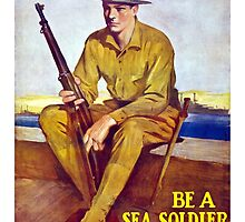 US Marine - Be A Sea Soldier by warishellstore