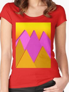 Sunset Mountains Women's Fitted Scoop T-Shirt