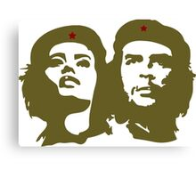 Che  Guevara and Tania Tamara Bunke the only woman Che Loved Canvas Print