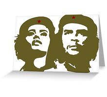 Che  Guevara and Tania Tamara Bunke the only woman Che Loved Greeting Card