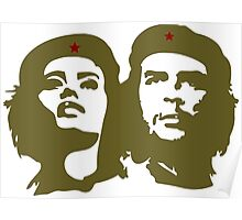 Che  Guevara and Tania Tamara Bunke the only woman Che Loved Poster