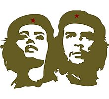 Che  Guevara and Tania Tamara Bunke the only woman Che Loved Photographic Print