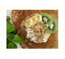 Pancakes with Fruit Art Print