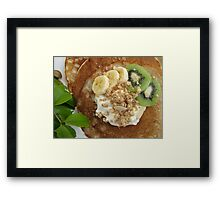 Pancakes with Fruit Framed Print