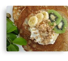 Pancakes with Fruit Canvas Print