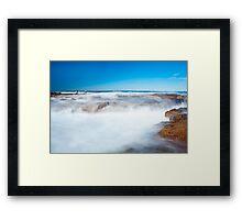 White Wash Framed Print