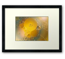 Oil in water # 6 Framed Print