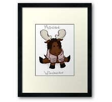 Moose Winchester. Writing. Framed Print