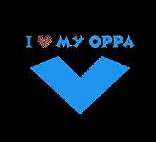 I HEART MY OPPA V  - BLACK  by Kpop Love