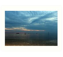 Lake in the evening. Art Print