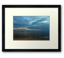 Lake in the evening. Framed Print