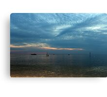 Lake in the evening. Canvas Print