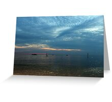 Lake in the evening. Greeting Card