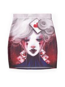 Queen of Hearts Mini Skirt