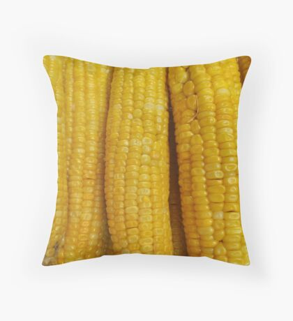 Sweet corn on the cob Throw Pillow