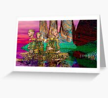 FOUR LEADERS Greeting Card