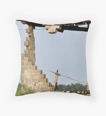 Jenga Barn-Your Move! Throw Pillow