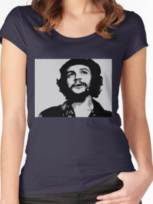 Ernesto Che Guevara black and white portrait Women's Fitted Scoop T-Shirt