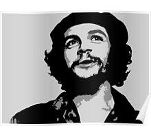 Ernesto Che Guevara black and white portrait Poster