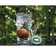 Splash of fresh Kiwi. Photographic Print