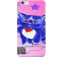 Fantasy and unique blue kitty iPhone Case/Skin