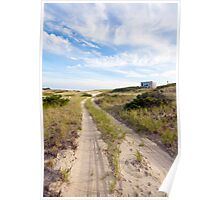 Dune Shack Road at Provincetown Cape Cod. Poster