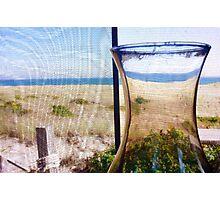 Cape Cod Beach Cottage Window Photographic Print