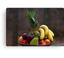 A basket of fruits Canvas Print