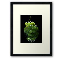 A glass of grapes Framed Print
