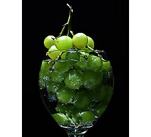 A glass of grapes Photographic Print