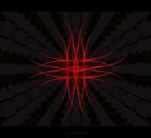 """The Red""  - Fractal Art by Leah McNeir"