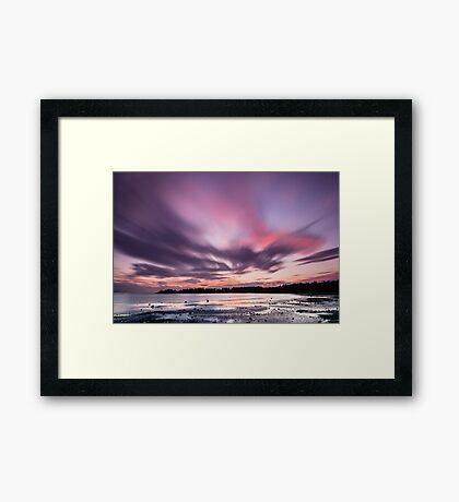 Sunset in 60 Seconds - False Bay, San Juan Island Framed Print