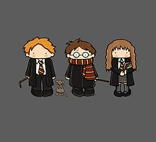 Harry, Ron & Hermione by Tanya Richards
