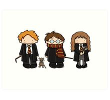 Harry, Ron & Hermione Art Print