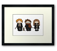 Harry, Ron & Hermione Framed Print