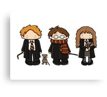 Harry, Ron & Hermione Canvas Print