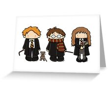 Harry, Ron & Hermione Greeting Card