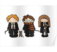Harry, Ron & Hermione Poster