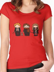 Harry, Ron & Hermione Women's Fitted Scoop T-Shirt