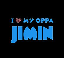 I HEART MY OPPA JIMIN  - BLACK  by Kpop Seoul Shop
