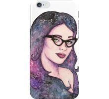 Retro cosmic girl iPhone Case/Skin