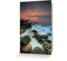Sennen Cove Sunset Greeting Card