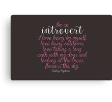 I'm an Introvert  Canvas Print
