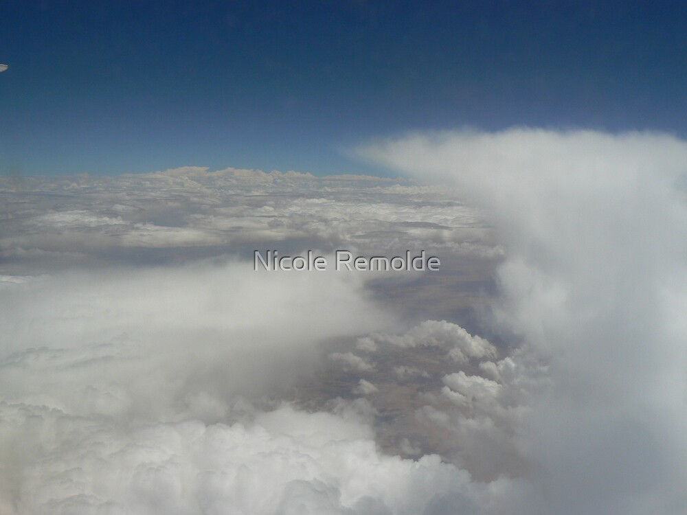 clouds, land, sky, scenery, white, blue, earth by Nicole Remolde