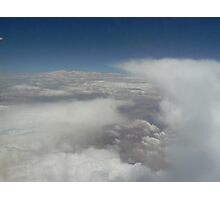 clouds, land, sky, scenery, white, blue, earth Photographic Print
